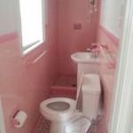Salle de bain peu pratique
