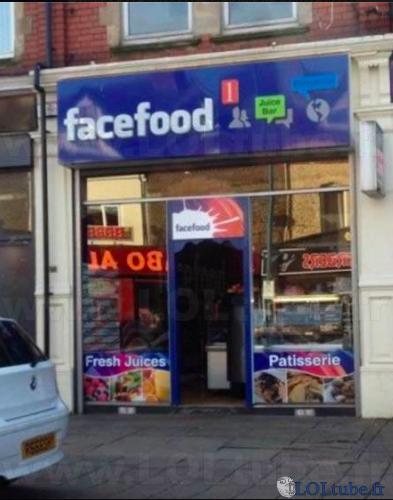 Facebook, ah non, face food.
